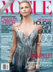 Charlize Theron on Vogue magazine in December 2011
