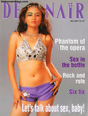 Sexy Indian model Aanchal Malhotra on the cover of Debonair magazine May 2005 issue