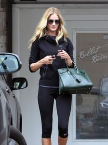 Rosie Huntington-Whiteley booty in tights, leaving the gym in West Hollywood 07-14-2014 (not HQ)