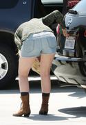 Mischa Barton at Gas Station 4/17/10 - Jean Shorts/Butt In Da' Air