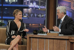 Jessica Simpson busty and cleavagy at 'Tonight Show with Jay Leno' - Hot Celebs Home